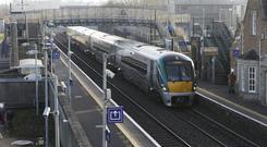 A woman gave birth to a baby girl on board a train travelling from Galway to Heuston.