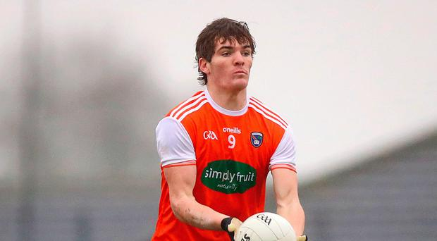 Green light: Armagh's Jarlath Óg Burns has been given the all clear