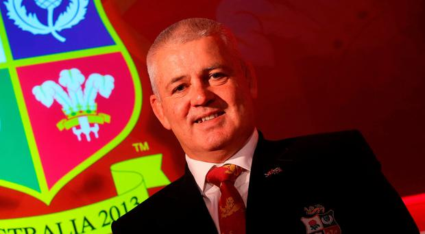 Familiar face: Warren Gatland will lead the British and Irish Lions for the third time