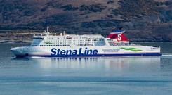 Victoria terminal two handles more than 200,000 freight units on ferries between Belfast and Liverpool each year (stock photo)