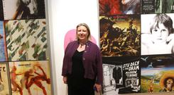 Kim Mawhinney, senior curator of Art at National Museums NI, at the Ulster Museum's Art of Selling songs exhibition