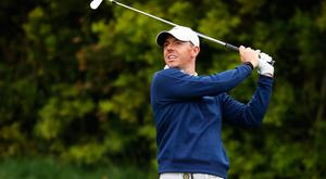 Positive start: Rory McIlroy (pictured) and Graeme McDowell both impressed in the first round of the US Open at Pebble Beach