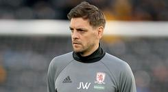 Jonathan Woodgate is Middlesbrough's new boss (Richard Sellers/PA)