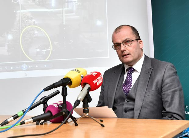 Detective Superintendent Sean Wright provides an update to media at PSNI Headquarters on Friday, in relation to the attempted murder of a police officer in east Belfast on Saturday 1 June at Shandon Golf Club. Pic Colm Lenaghan/Pacemaker
