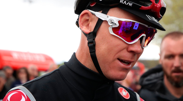 Major blow: Chris Froome had to undergo surgery after accident