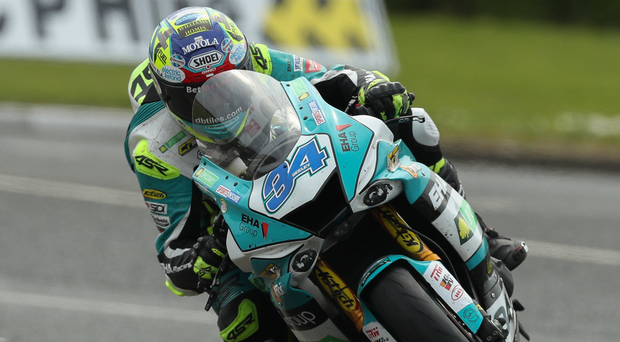 Table topper: Alastair Seeley will look to extend his lead in the British Supersport Championship at Brands Hatch today
