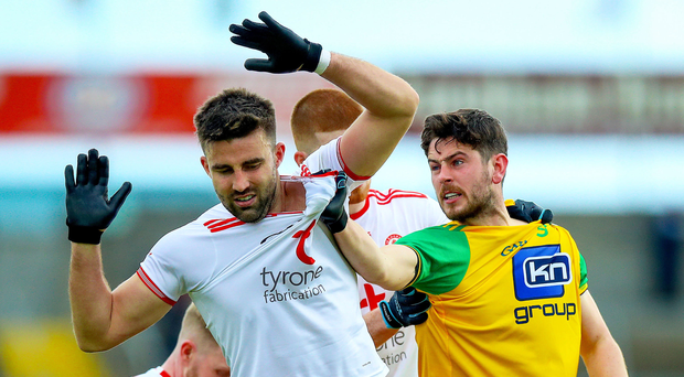 Serious issue: Donegal's Ryan McHugh (right) suffered two head injuries last year