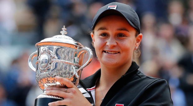 Dream fulfilled: Ashleigh Barty with French Open trophy