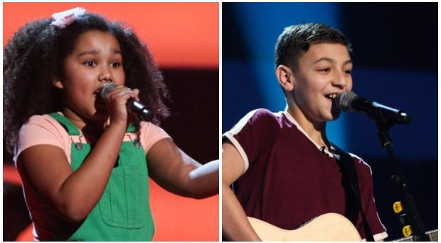 Loughinisland boy Conor Marcus and Londonderry girl Rosa O'Reilly perform on The Voice Kids.