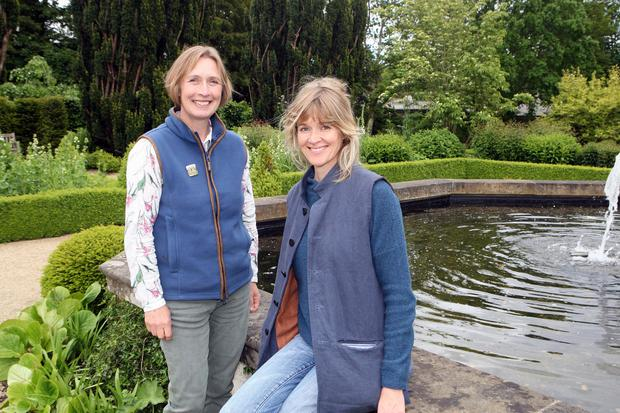 Team work: Claire Woods, the gardens manager, with Catherine