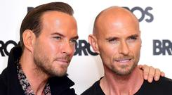 Matt (left) and Luke Goss at the Ham Yard Hotel in London, as eighties boyband Bros are getting back together, more than 20 years after they called it a day.