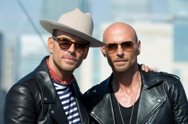 Matt (left) and Luke Goss of boy band Bros pose on top of the O2 Arena in London ahead of their comeback tour, which will see them play two gigs at the venue later this month.