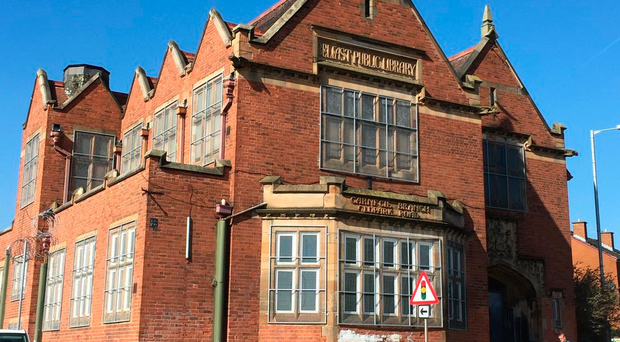 Quintin Oliver plans to raise £1m to restore Carnegie Library on the Oldpark Road in north Belfast