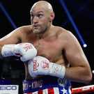 Big impact: Tyson Fury during his victory in Las Vegas