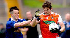 Welcome boost: Armagh ace Jarlath Óg Burns is available after being treated for dehydration