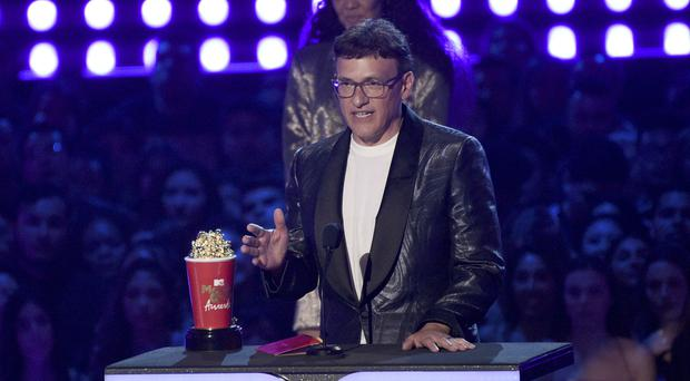 Director Anthony Russo accepts the award for best movie for Avengers: Endgame at the MTV Movie and TV Awards (Chris Pizzello/Invision/AP)