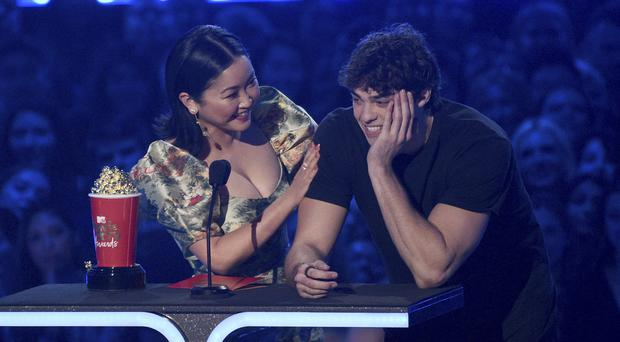 Noah Centineo thanked co-star Lana Condor for her 'lips' as they won best kiss at the MTV Movie and TV Awards (Chris Pizzello/Invision/AP)