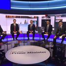 The candidates ready to face viewers' questions (Jeff Overs/BBC/PA)