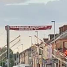 The banner has been erected in Coleraine.