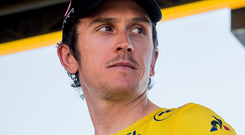 Injured: Geraint Thomas