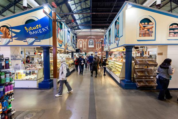 Bakery inside of the historic St Lawrence Market in Toronto. Province of Ontario, Canada