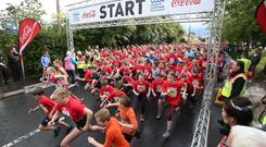 Thousands took part in the Lisburn Half Marathon. Credit: Steven McAuley/McAuley Multimedia