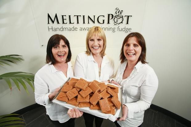 Sister act: Cathy, Jenny and Dorothy with their homemade fudge