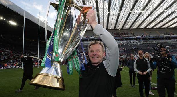 Prize guy: Ulsterman Mark McCall lifts Champions Cup