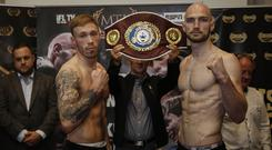 Prize fighters: Steven Ward (right) is out to win the WBO European belt against Liam Conroy
