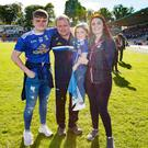 Happy family: Cavan manager Mickey Graham with wife Linda, son Jack and daughter Lauren