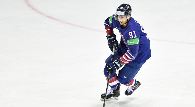 Fresh arrival: New Belfast Giants forward Ben Lake in action for Great Britain