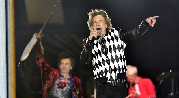 Mick Jagger performs during the No Filter tour at Soldier Field in Chicago (Rob Grabowski/Invision/AP)
