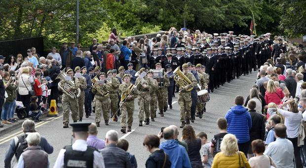 Over Over 15,000 people came to Lisburn to show their support for the Armed Forces at the regional Armed Forces Day event. Pic Michael Cooper/McAuley Multimedia