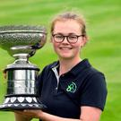 Proud moment: Annabel Wilson with the Irish Close trophy
