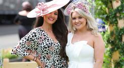Belle Azzure and Annette Kelly pictured at Down Royal Racecourse. Photo by Kelvin Boyes / Press Eye.
