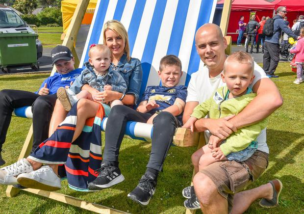 Colum and Colleen Gribben with Daniel, Eabhan, John and Fionn Gribben