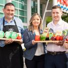 Tesco's Tess O'Neill (second left) with Malcolm Feaney of the Big Pot Company; Conor Daykin from Clean & Tasty, and Lorna Robinson of Cloughbane