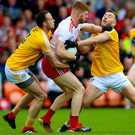 Early exit: Antrim lost to Tyrone in the Ulster Championship and then bowed out of the qualifiers when beaten by Kildare