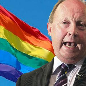 Jim Allister has hit out at one company's Pride support.