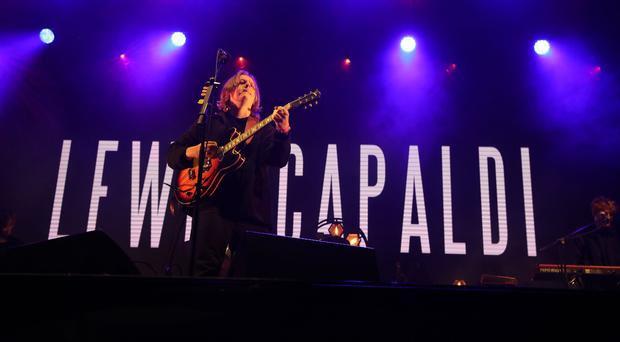 Lewis Capaldi performing at the 3D festival at Slessor Gardens in Dundee (Andrew Milligan/PA)