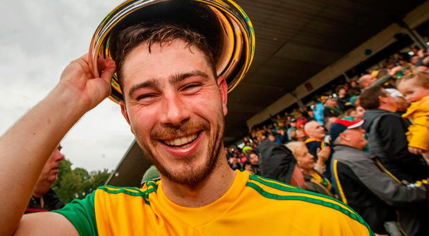 Champions: Ryan McHugh celebrates Donegal's success