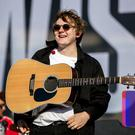 Scottish singer Lewis Capaldi on stage before headlining act The Killers at Belsonic