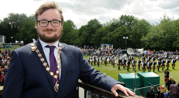 Former deputy Lord Mayor, Councillor Emmet McDonough-Brown has criticised the erection of Union flags in Belfast.