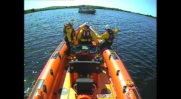 The vessel was able to continue on its journey. Credit: RNLI