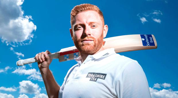 Meaning business: Jonny Bairstow is confident England will bounce back and reach the semi-finals