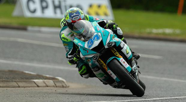 Speed machine: Alastair Seeley leads the British Supersport Championship