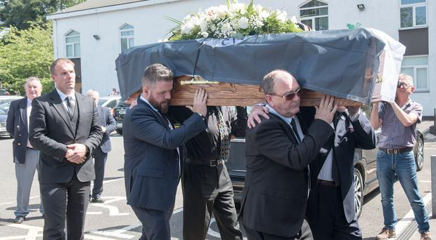The funeral of civil rights activist, former MP and one of the founding members of the SDLP, Ivan Cooper at St. Peter's Church in Derry-Londonderry. Picture Martin McKeown. 28.06.19