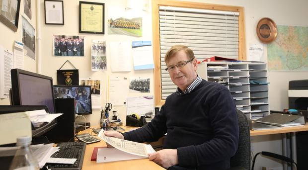 Willie Frazer at work in Markethill. Pic by Peter Morrison