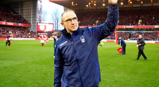 Waving goodbye: Martin O'Neill has been sacked by Nottingham Forrest after only five months in charge