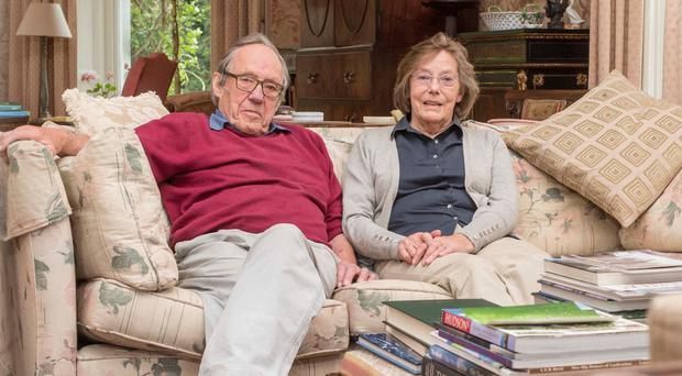 Hugh and Val Montgomery at home